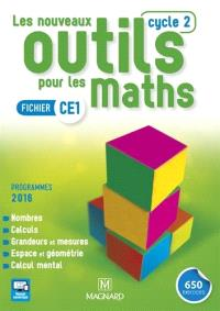 Les nouveaux outils pour les maths : fichier CE1, cycle 2 : programmes 2016