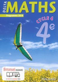 Delta maths, cycle 4, 4e : programme 2016