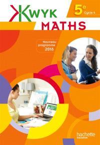 Kwyk maths 5e