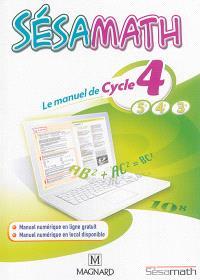 Sésamath : le manuel de cycle 4, 5e, 4e, 3e