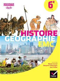 Histoire géographie, enseignement moral et civique 6e, cycle 3 : nouveaux programmes 2016