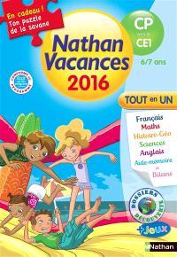 Nathan vacances 2016, du CP vers le CE1, 6-7 ans : tout en un
