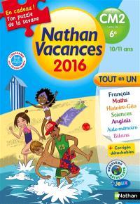 Nathan vacances 2016, du CM2 vers la 6e, 10-11 ans : tout en un