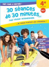 Prêt pour la rentrée ! : 30 séances de 30 minutes maxi pour réviser efficacement... et mieux profiter des vacances ! : 4e vers la 3e