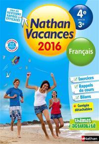 Nathan vacances 2016, de la 4e vers la 3e : toutes les matières