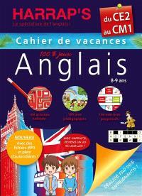 Cahier de vacances anglais Harrap's du CE2 au CM1, 8-9 ans