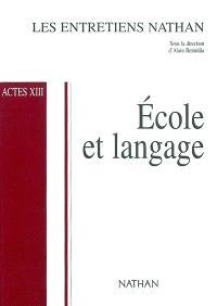 Ecole et langage