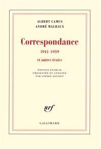 Correspondance, 1941-1959 : et autres textes
