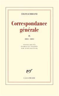Correspondance générale. Volume 9, 1831-1835