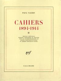 Cahiers : 1894-1914. Volume 2