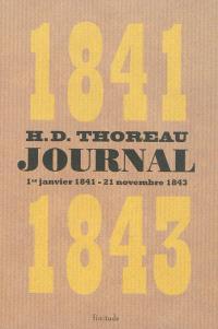 Journal. Volume 2, 1er janvier 1841-21 novembre 1843