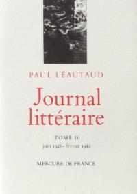Journal littéraire. Volume 2, Juin 1928-février 1940