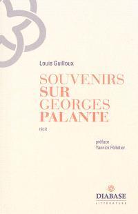Souvenirs sur Georges Palante : récit