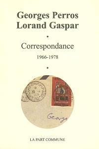 Correspondance : 1966-1978