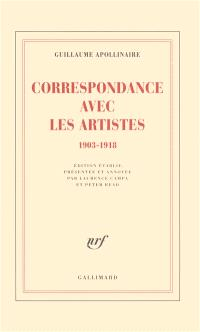 Correspondance avec les artistes : 1903-1918