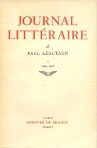 Journal littéraire. Volume 1, 1893-1906
