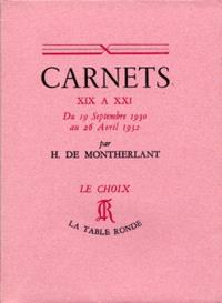 Carnets. Volume 1, 1930-1932