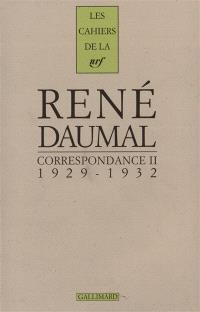 Correspondance. Volume 2, 1929-1932
