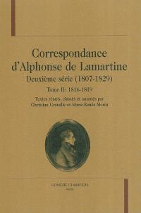 Correspondance d'Alphonse de Lamartine : deuxième série (1807-1829). Volume 2, 1816-1819