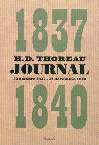 Journal. Volume 1, 22 octobre 1837-31 décembre 1840