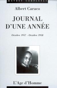 Journal d'une année : octobre 1957-octobre 1958