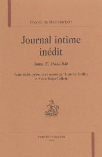 Journal intime inédit. Volume 4, 1844-1848