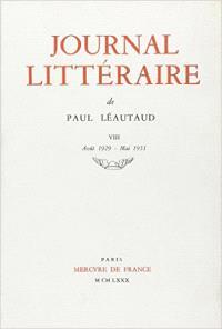 Journal littéraire. Volume 8, 1929-1931