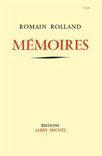 Mémoires; Fragments du Journal