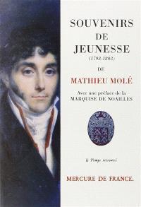 Souvenirs de jeunesse : 1793-1803