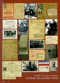Archives des années noires, artistes, écrivains et éditeurs
