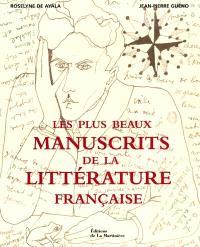 Les plus beaux manuscrits de la littérature française