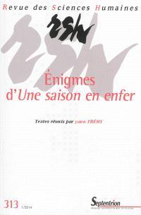 Revue des sciences humaines. n° 313, Enigmes d'Une saison en enfer