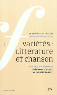 Nouvelle revue française. n° 601, Variétés : littérature et chanson