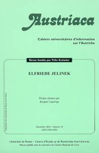 Austriaca. n° 59, Elfriede Jelinek