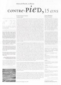 Autres & pareils, la revue. n° 32, Contre-pied, 15 ans