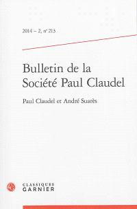 Bulletin de la Société Paul Claudel. n° 213
