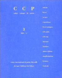 Cahier critique de poésie. n° 3, Emmanuel Hocquard
