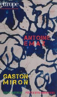 Europe. n° 1030, Antoine Emaz; Gaston Miron