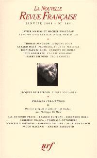 Nouvelle revue française. n° 584, Poésies italiennes : 2e partie