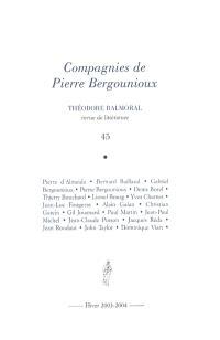Théodore Balmoral. n° 45, Compagnies de Pierre Bergounioux