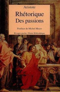Rhétorique des passions : livre second, chapitre 1-11