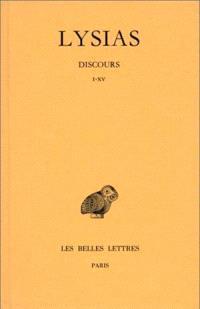 Discours. Volume 1, I-XV