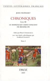 Chroniques, livre III : le manuscrit Saint-Vincent de Besançon, Bibliothèque municipale MS n° 865