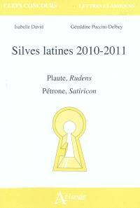 Silves latines 2010-2011 : Plaute, Rudens ; Pétrone, Satiricon