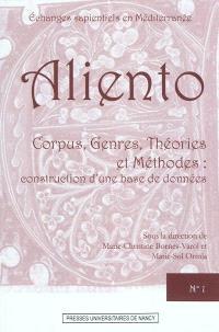 Corpus, genres, théories et méthodes : construction d'une base de données