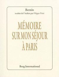 Mémoire sur mon séjour à Paris