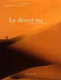 Le désert nu : un marcheur au Sahara