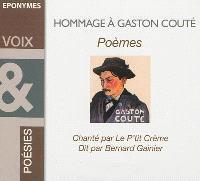 Hommage à Gaston Couté : poèmes