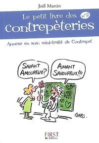 Le petit livre des contrepèteries. Volume 2