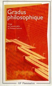 Gradus philosophique : un répertoire d'introductions méthodiques à la lecture des oeuvres